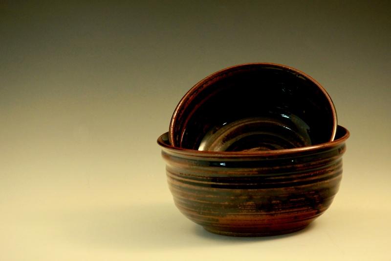 Temoku Brown: Large Bowls