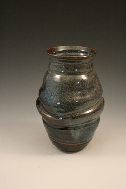 brown and Blue:  Vase